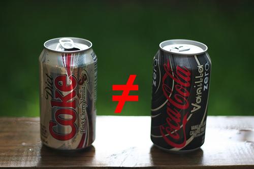is there sugar in diet coke vanilla