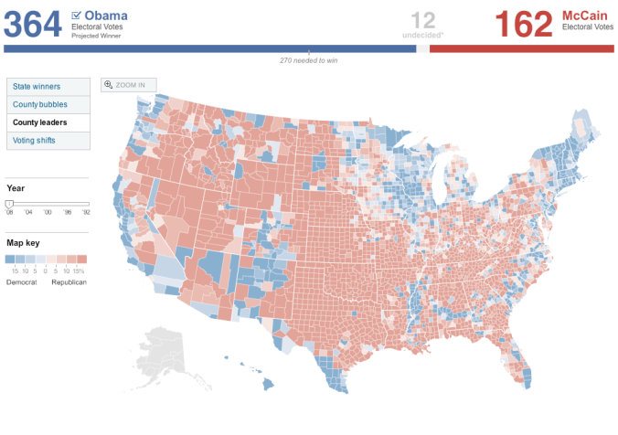 2008 Election by County