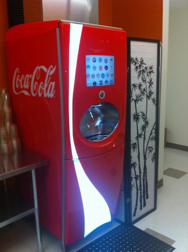 coca cola freestyle vending machine
